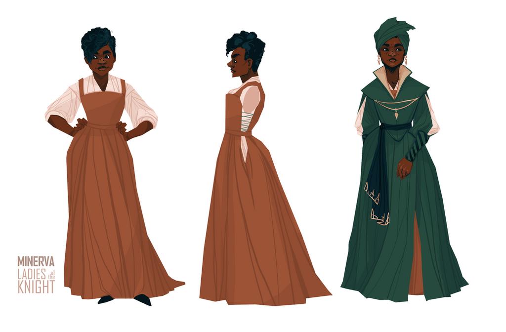 Minerva - design sheet by FionaCreates