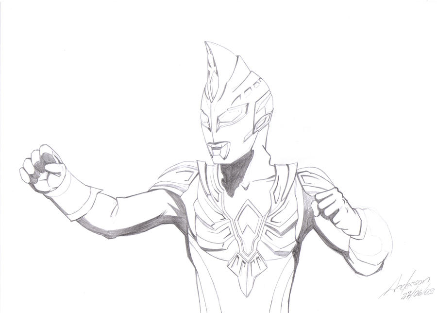 Colouring Pages Ultraman Ultraman Zero Colouring Pages
