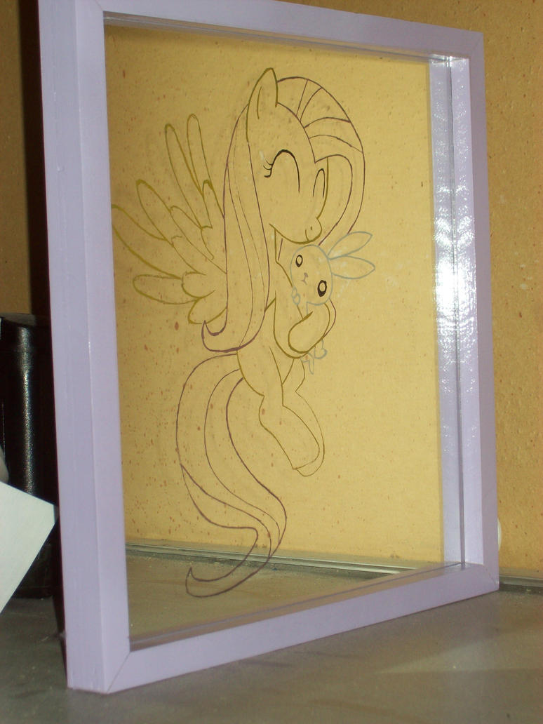 Fluttershy and Angel 02 by JackConejo