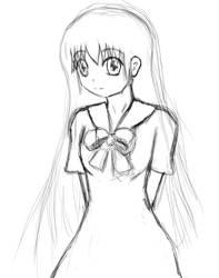 Girl in school dress by raptor-tk