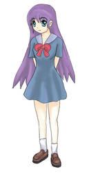 Girl in school dress coloured by raptor-tk