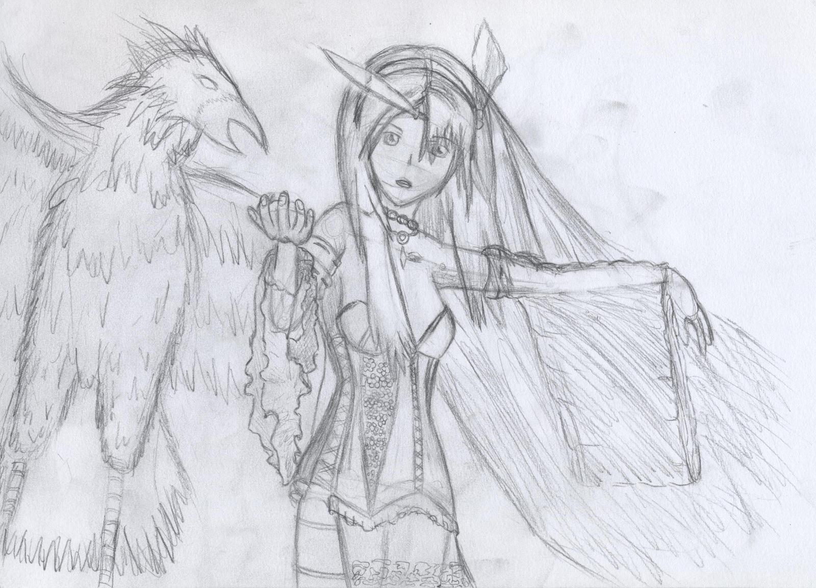 Pheonix and woman copyexercise by raptor-tk