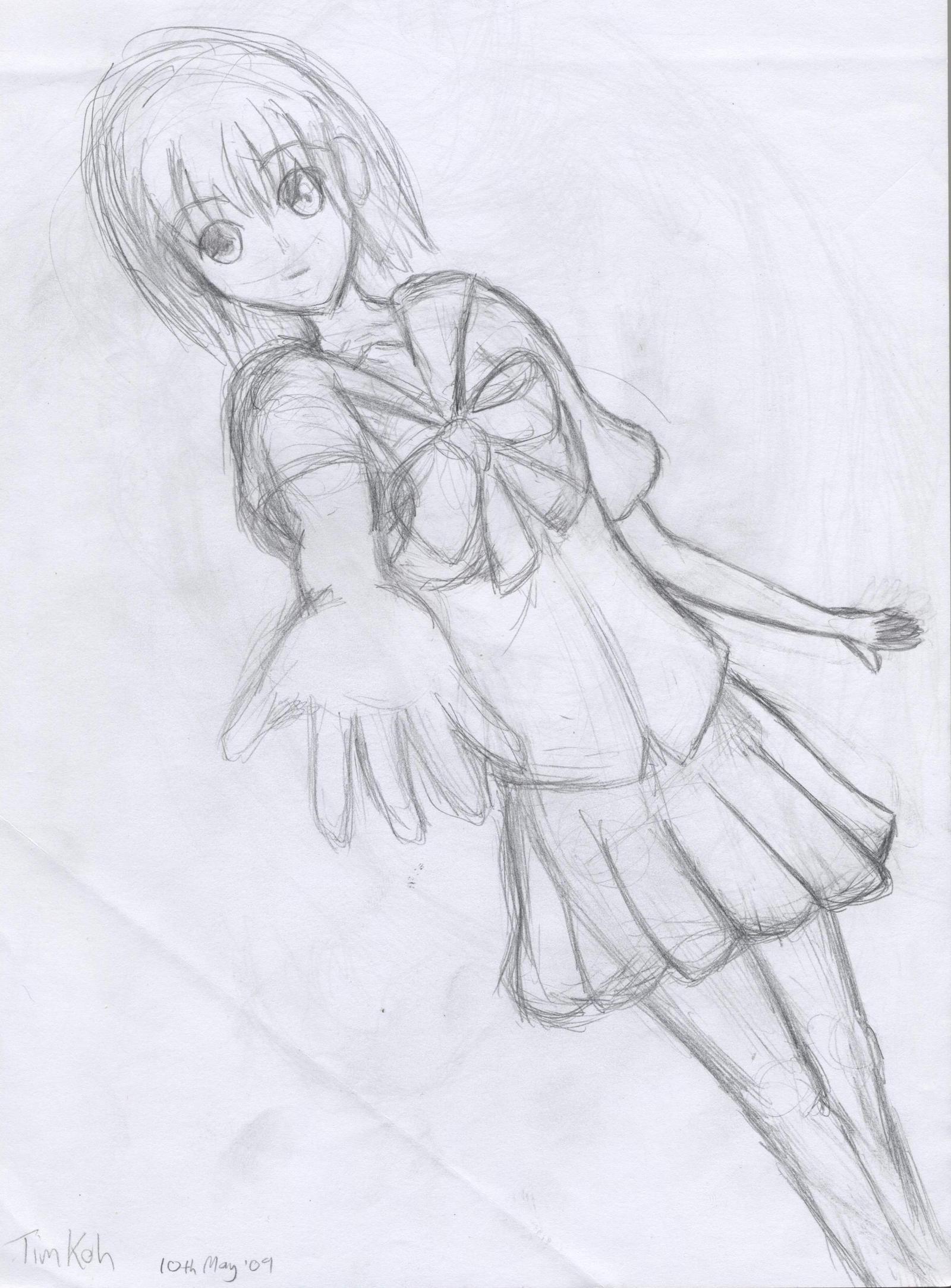 girl reaching out by raptor-tk on DeviantArt