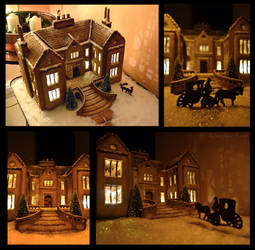 Gingerbread Manor House by MO-ffie