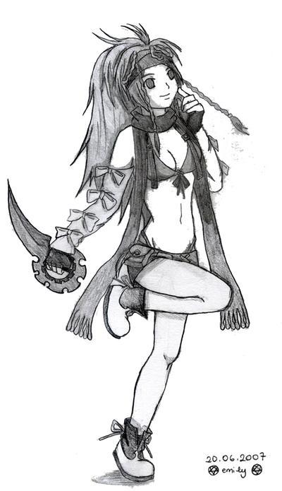GreyScale Thief Rikku by finalfantasyfan