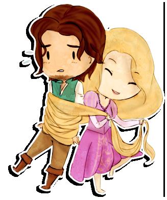 Flynn Rider And Rapunzel Fan Art Flynn and Rapunzel - C...