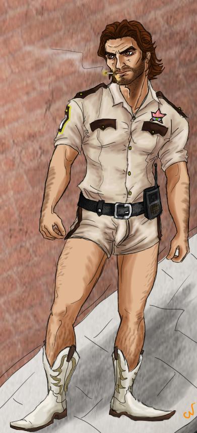 Sheriff Bigby Dangle by SparklyFarts