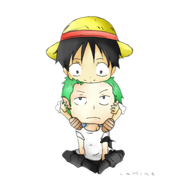 Luffy and Zoro by Call...