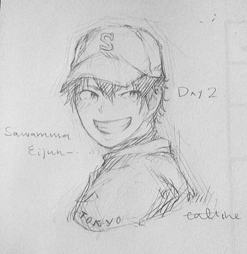 Sawamura Eijun -- -Day 2 by CallineXoP
