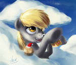 Derpy Hooves Drinking Muffin Tea