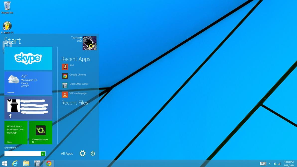 Windows 9 Start Menu Concept by Lodmot