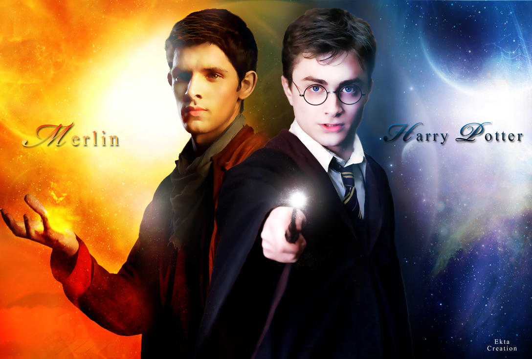 Multifandom Art Merlin And Harry Potter By Ektapinki On