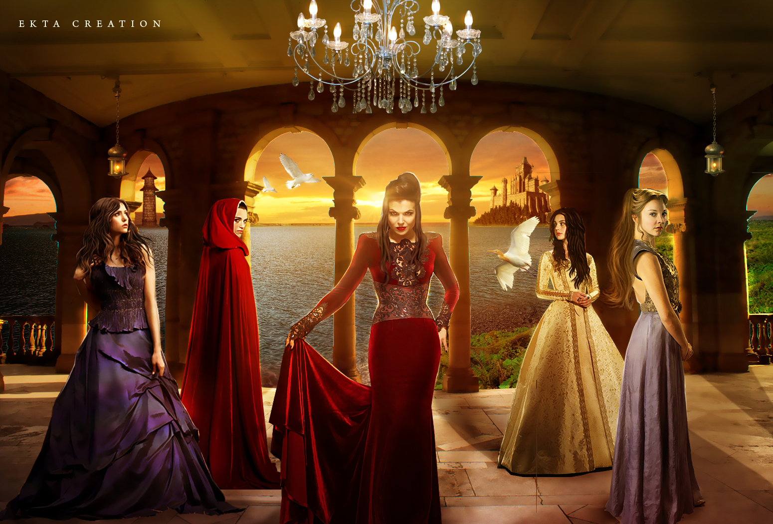 multifandom(Merlin,TVD,OUAT,GOT,Reign) by ektapinki