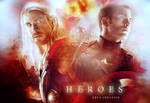 The Avengers fan art (thor and captain america)
