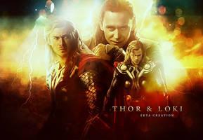 thor and loki by ektapinki