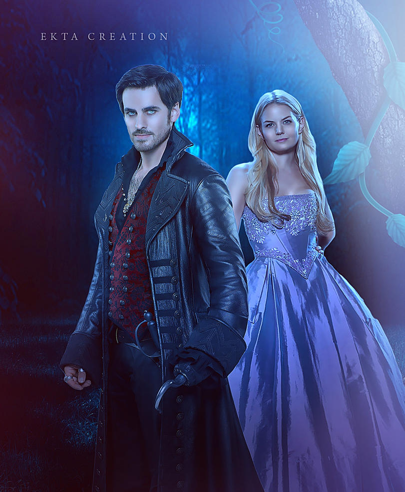 Ouat Wallpaper: Hook And Emma (OUAT) Fan Art By Ektapinki On DeviantArt