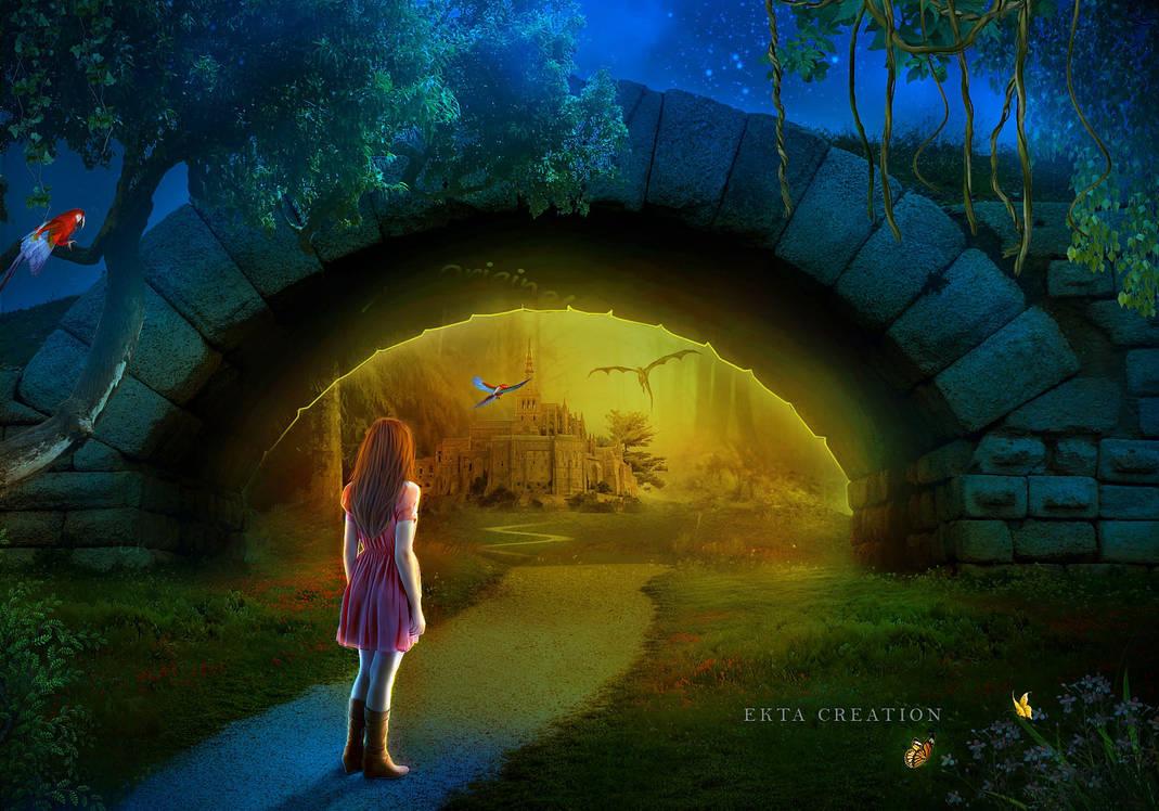 Secret gate of the magic world by ektapinki