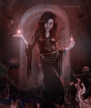 Dark sorceress by ektapinki