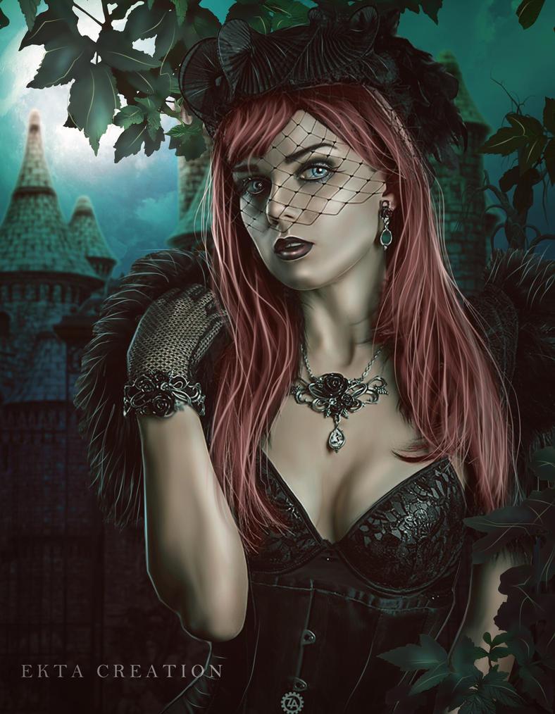 Dark Mansion by ektapinki