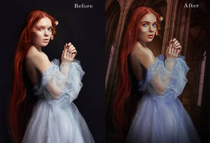 A Princess In  Castle before after