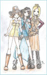 Selphie, Rinoa and Quistis