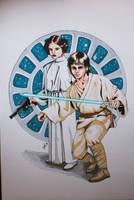 Luke and Leia by Snowendur