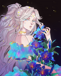 YCH_Bouquet of lilies_(blue) by YakoAlyarin