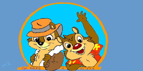 Chip an' Dale by Rainon397