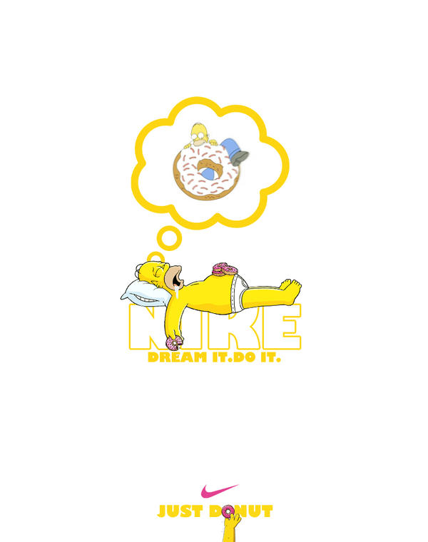 Homer Simpson Nike by manishdesigns