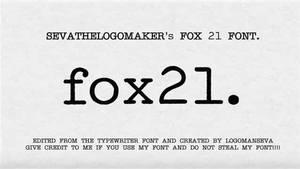 Fox 21 Font by logomanseva