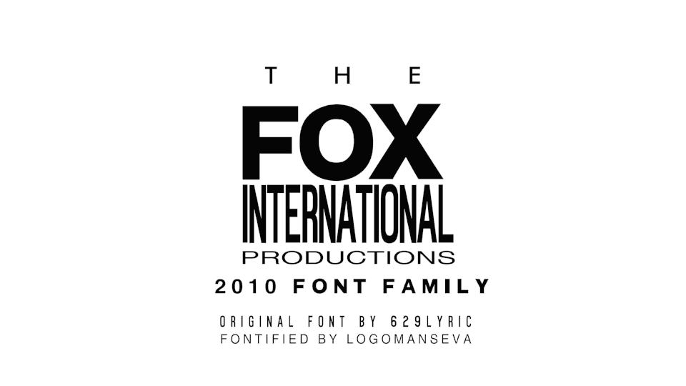 20th Century Fox Text Font – Wonderful Image Gallery