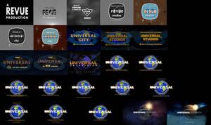 Revue Studios and Universal TV logo remakes