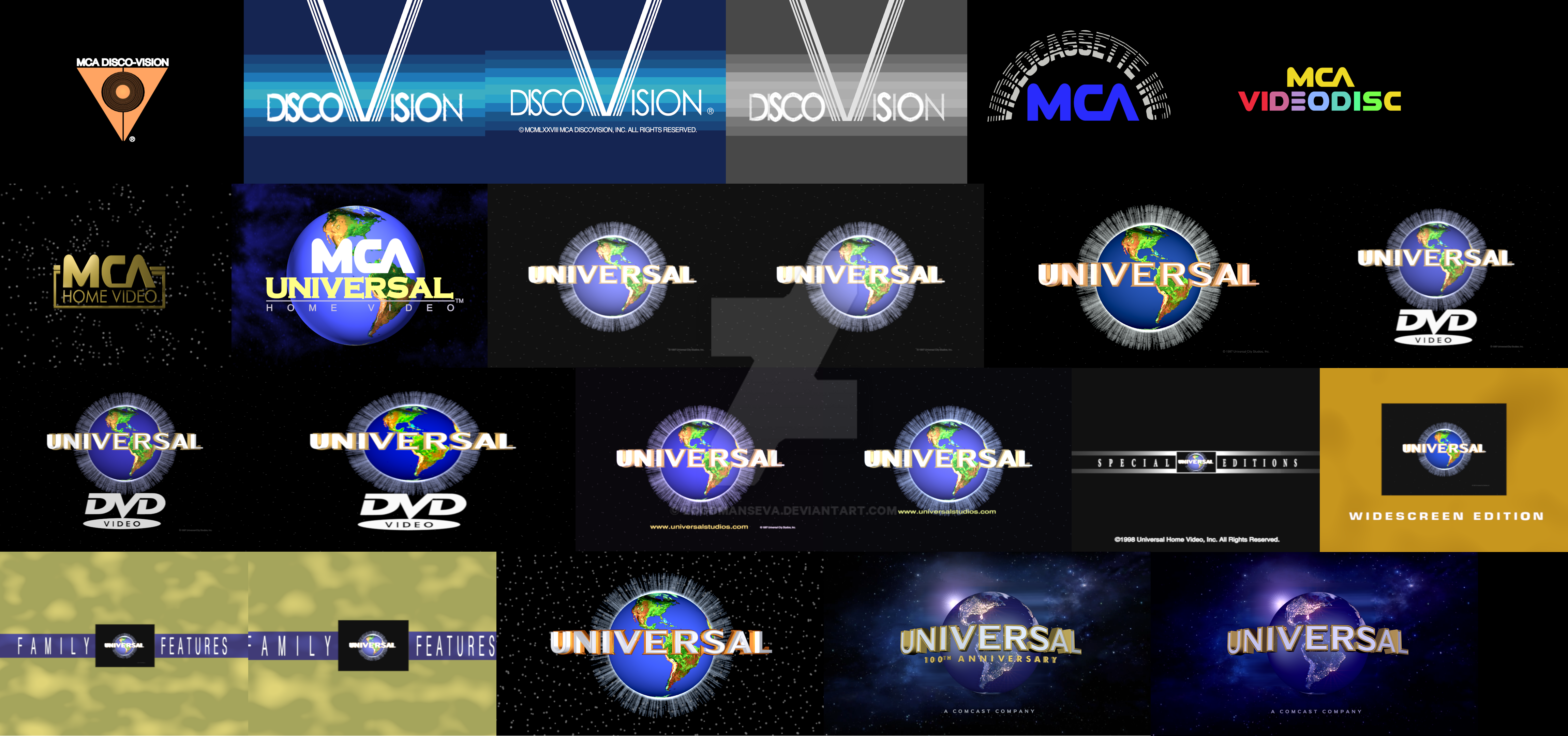 universal pictures home entertainment logo remakes by logomanseva on