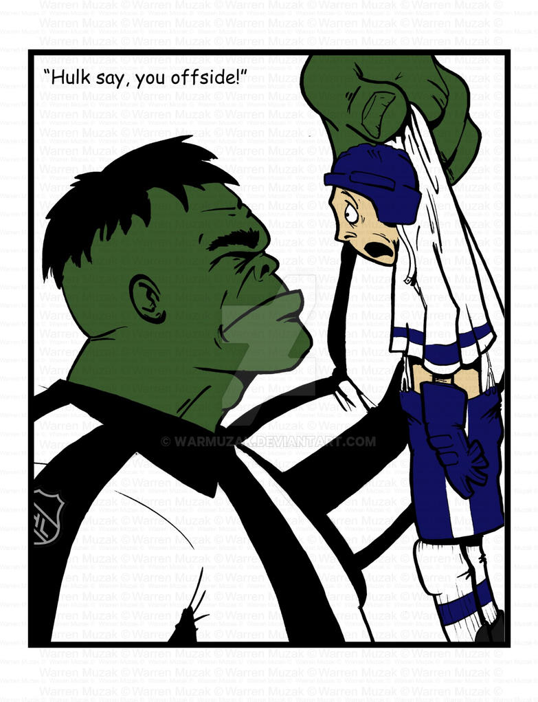 Hulk NHL ref by warmuzak
