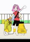 Vespa Girl Haruko