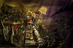 Chaplain in Deathwing Armour by Eupackardia