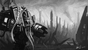 Dark Angels Deathwing Venerable Dreadnought by Eupackardia