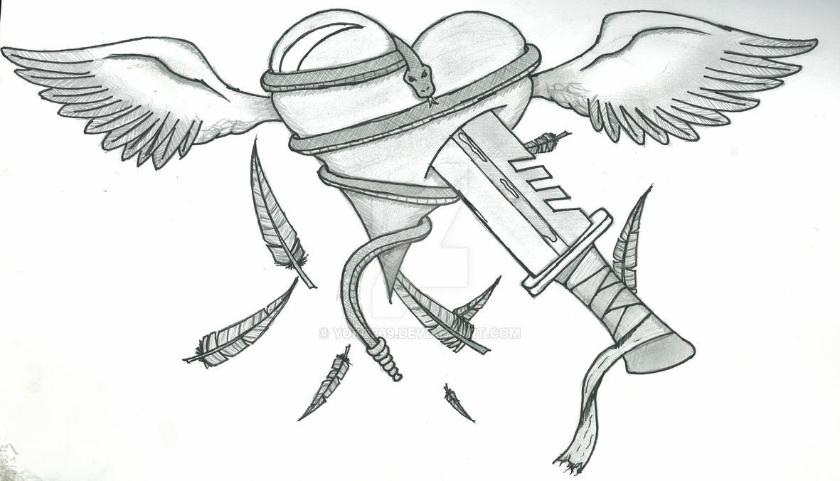 Broken Heart Tattoo Design - Heart tattoo design by yoko269