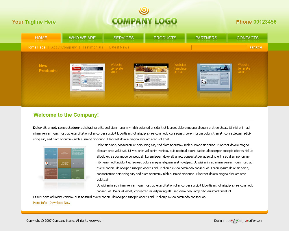 Business Website Template By Colorifer On DeviantArt - About page template