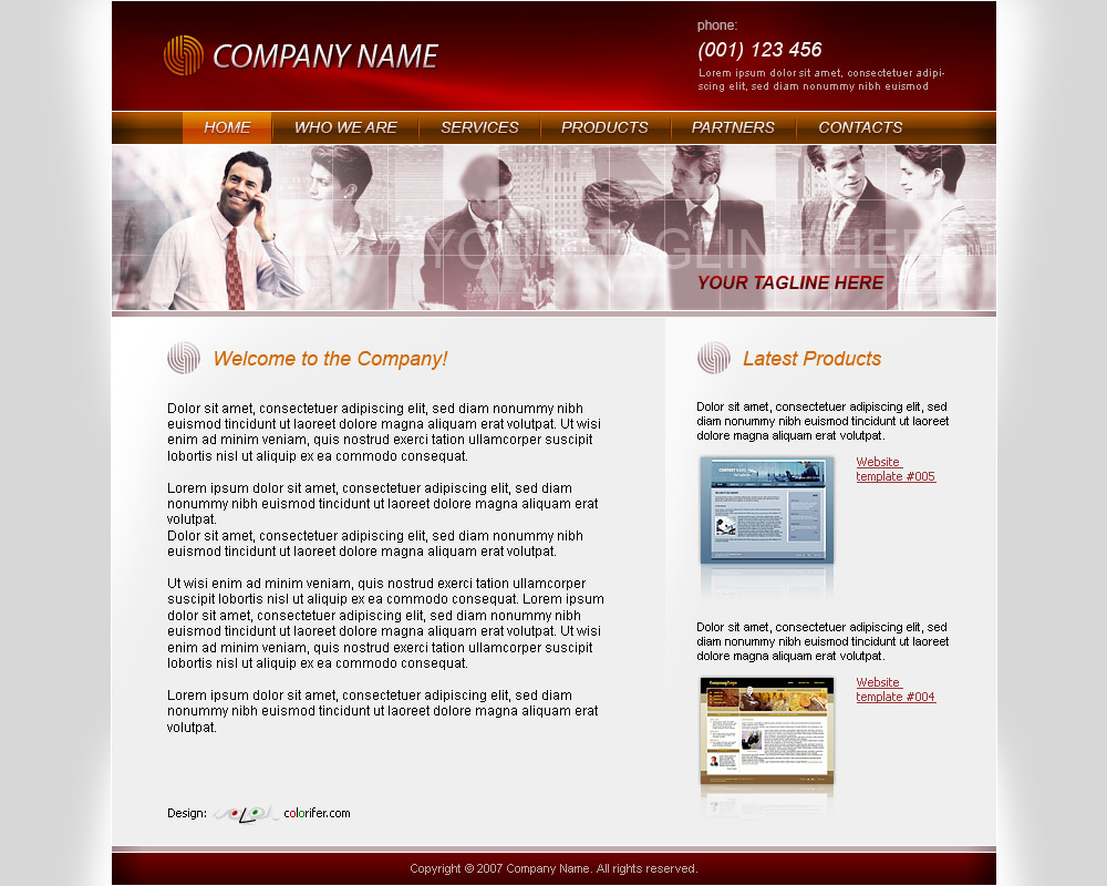 Business Website Template 010 by colorifer on DeviantArt