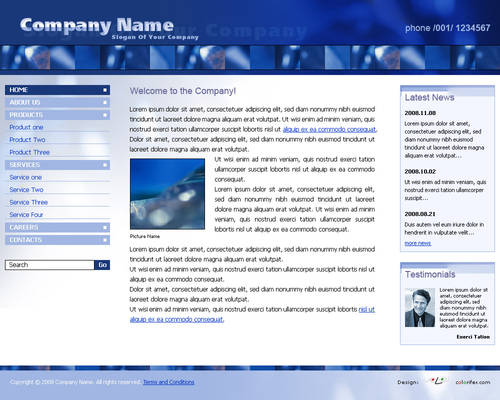 Business Website Template 011