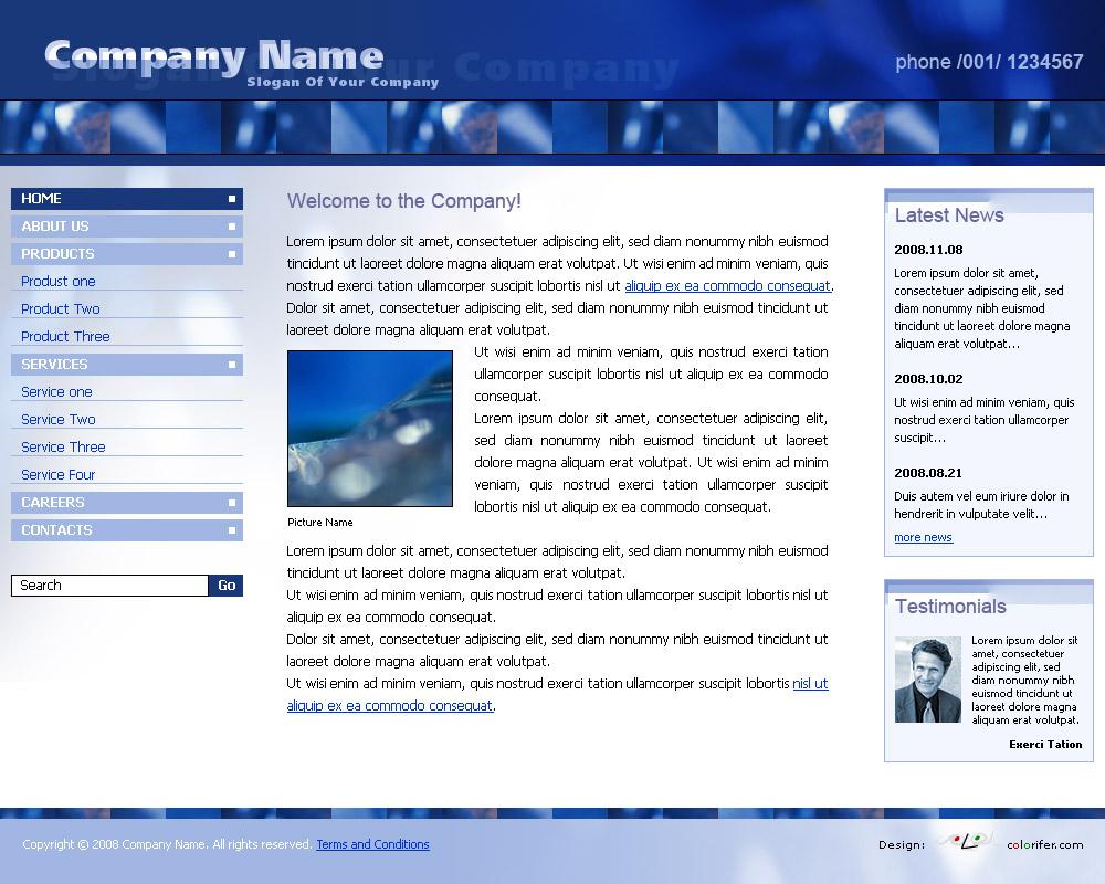 Business Website Template 011 by colorifer on DeviantArt