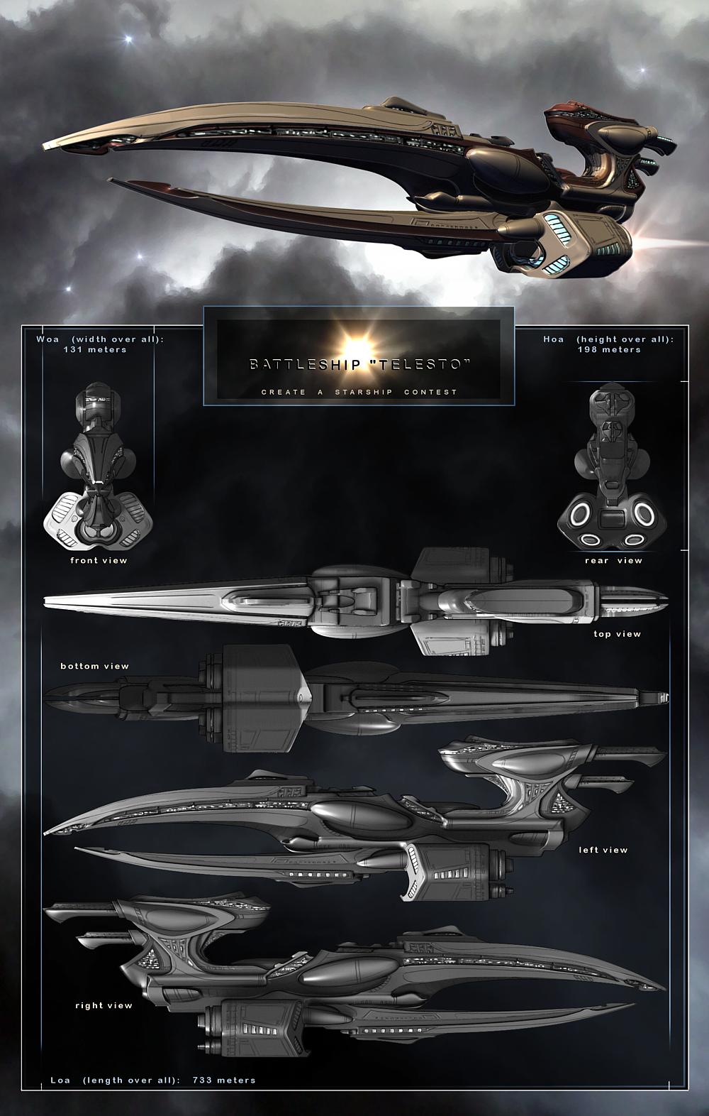 Battleship 'Telesto' by img-nation
