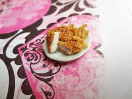 Chicken Fillet served with Fries by WaterGleam