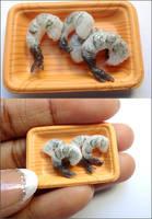 Raw Shrimp by WaterGleam