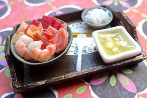 Sashimi and Shrimp Tray by WaterGleam