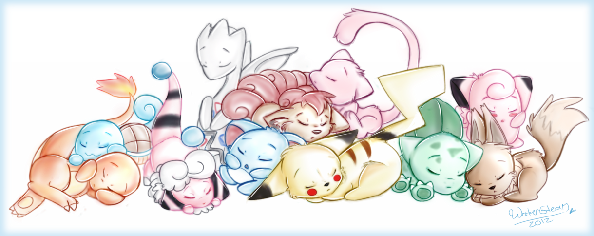 Sleeping Pokemon by WaterGleam