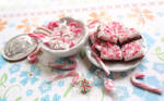 Peppermint Bark and Candy canes