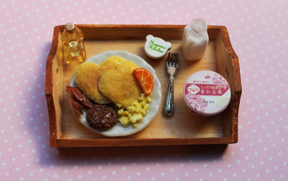 Miniature Pancake Breakfast Tray by WaterGleam