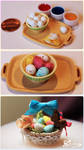 Easter Basket - Speckled Eggs by WaterGleam